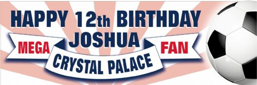 Crystal Palace Birthday banner